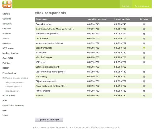 pantallazo de eBox components