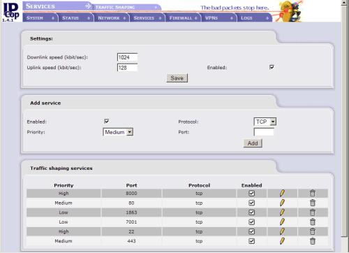 pantallazo de ipcop
