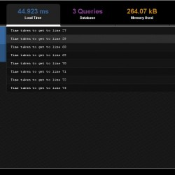 PHP quick profiler :: captura (load time)