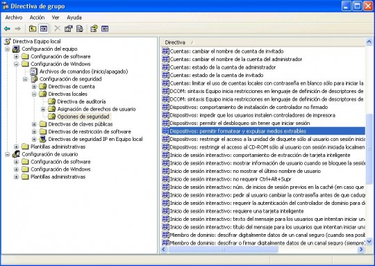Configurar permisos de grabación para usuarios en XP